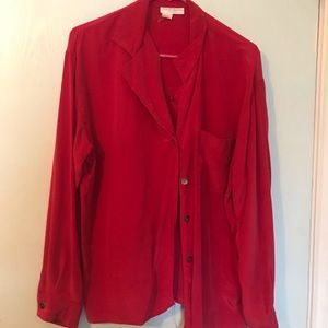 Vintage Ann Taylor 100% Silk Button Up Blouse